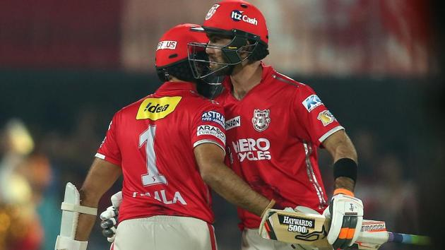 Hashim Amla and Glenn Maxwell guided Kings XI Punjab batsman to victory against Royal Challengers Bangalore in their Indian Premier League encounter. Get full cricket score of Kings XI Punjab vs Royal Challengers Bangalore here.(BCCI-HT Photo)