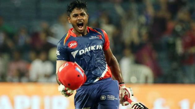 Sanju Samson's 102 guided Delhi Daredevils to a 97-run win over Rising Pune Supergiant in 2017 Indian Premier League.(BCCI)