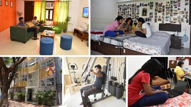 The hostels typically have gyms, gaming rooms and rec areas too, and relaxed rules that let you bring friends over or spend the night out.(HT Photos)