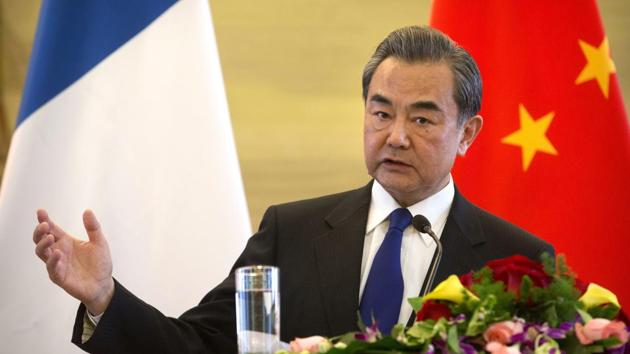 File photo of China's foreign minister Wang Yi at a news conference in Beijing on April 14, 2017.(AP)