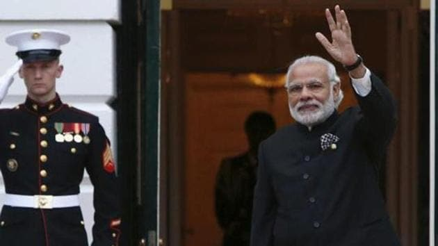 Prime Minister Narendra Modi as he arrives for a working dinner with heads of delegations for the Nuclear Security Summit at the White House in Washington on March 31, 2016.(Reuters File Photo)