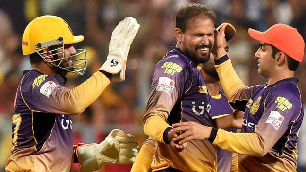 Kolkata Knight Riders assistant coach Simon Katich feels team skipper Gautam Gambhir (right) is having a great Indian Premier League ( IPL) 2017 season because he is enjoying his outings and playing very freely. Yusuf Pathan (centre) has also been consistent and Katich feels the allrounder is at his best when he goes out there and bats or bowls with intent from the first delivery.(PTI)