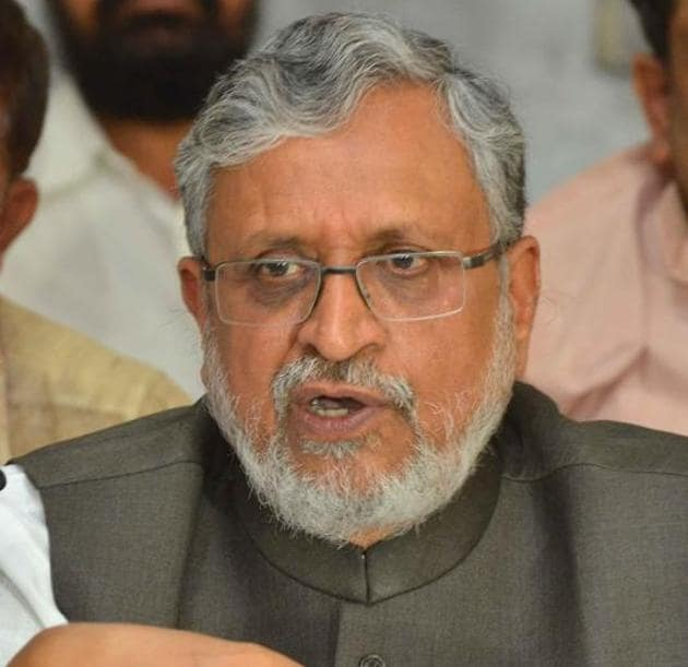BJP leader Sushil Modi has made new allegations about 'dubiously sourced' properties of Lalu Prasad's family.(HT file photo)