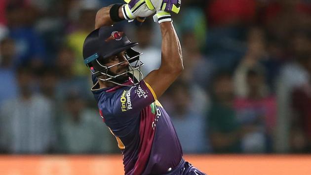 Manoj Tiwary while playing for Rising Pune Supergiant.(Sportzpics - IPL)