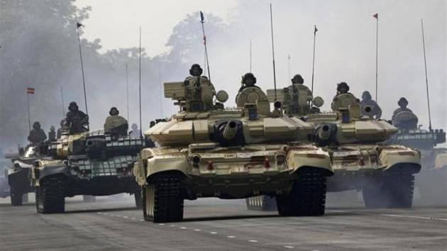 File photo of tanks of the Indian Army at the Army Day parade in January 2013.(Reuters)