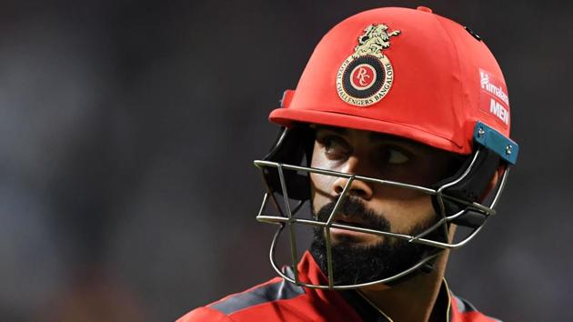 Virat Kohli was dismissed for a duck as Royal Challengers were bowled out for just 49 against Kolkata Knight Riders.(AFP)