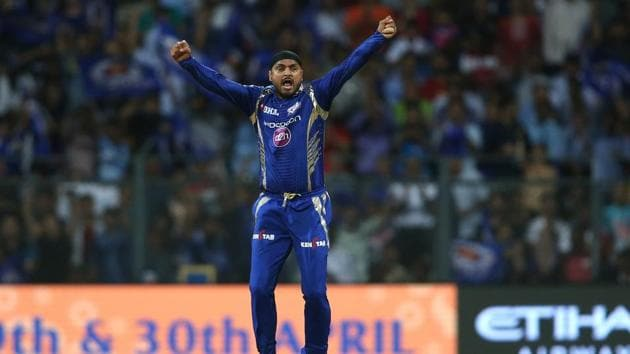 Harbhajan Singh is now the third Indian bowler (after Ravichandran Ashwin and Amit Mishra) to complete 200 T20 wickets.(BCCI)