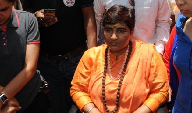 2008 Malegaon blast accused Pragya Singh Thakur.(HT file)