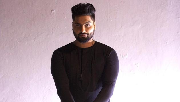 Singer Navv Inder strikes a pose.