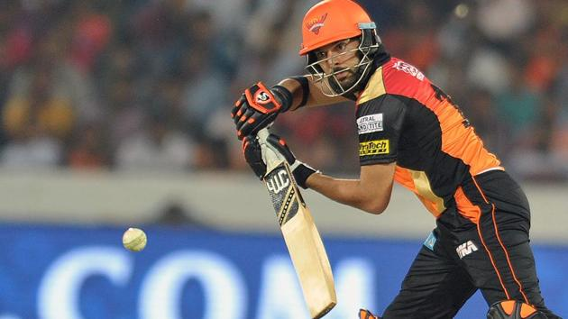 Yuvraj Singh, who is not exactly in great form for Sunrisers Hyderabad in 2017 Indian Premier League, has been chosen by former Australian skipper Michael Clarke to make the Indian cricket team for the ICC Champions Trophy in UK in June.(AFP)