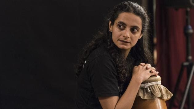 Faezeh Jalali during the rehearsals of Shikhandi(Aalok Soni/HT Photo)