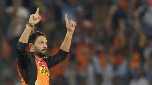 Yuvraj Singh will be the key for Sunrisers Hyderabad on Friday evening when they take on Kings XI Punjab in Mohali in the 2017 Indian Premier League (IPL).(AFP)