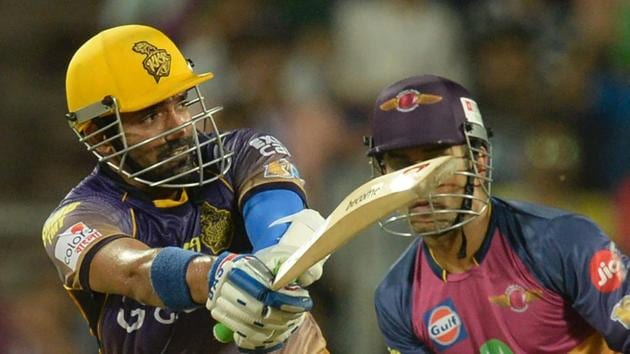 Kolkata Knight Riders' Robin Uthappa hit a blistering 87 during the run chase as the Gautam Gambhir-led side beat Rising Pune Supergiant by seven wickets in Pune on Wednesday.(AFP)