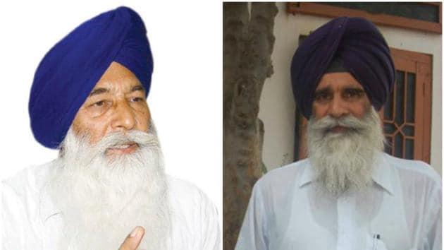 (From left) Didar Singh Nalvi and Jagdish Singh Jhinda(HT File Photos)