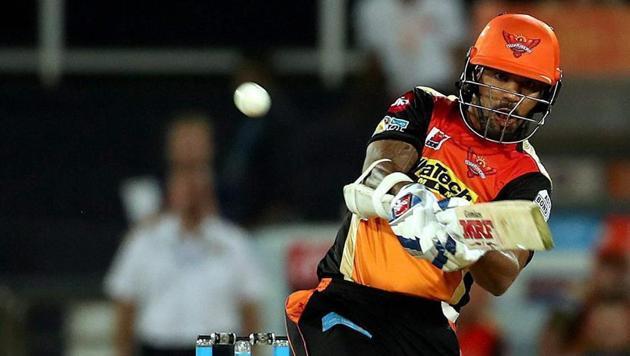 Sunrisers Hyderabad opener Shikhar Dhawan has scored two half-centuries so far in the 2017 Indian Premier League.(PTI)