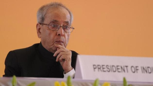 President Pranab Mukherjee's term ends in July this year.(HT Photo)