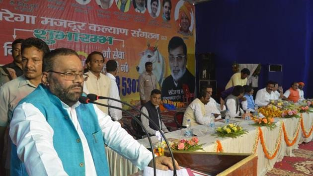 The state minister was in Varanasi on Monday to inaugurate a medical van service for cows when he made the comments.(HT PHOTO)