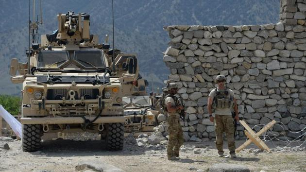 File photo of a US soldiers' patrol in the Achin district of Afghanistan's Nangarhar province in April.(AFP)