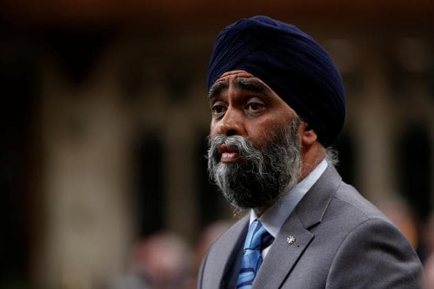 Harjit Sajjan during Question Period in Canada's House of Commons in Ottawa on Monday.(Reuters)