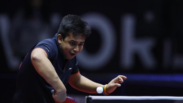 Soumyajit Ghosh won the singles and doubles gold in the Seamaster 2017 ITTF Challenge Chile Open in Santiago(HT Photo)