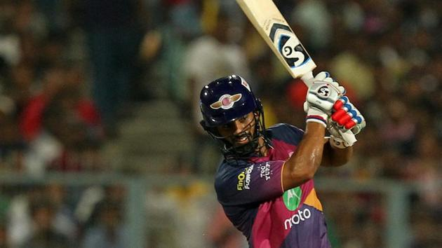 Rahul Tripathi's 93 guided Rising Pune Supergiant to a 4-wicket win over Kolkata Knight Riders. Get full cricket score of KKR vs RPS here(BCCI)