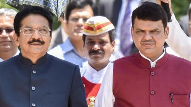 Maharashtra governor Ch Vidyasagar Rao (left) with chief minister Devendra Fadnavis.(Kunal Patil/HT Photo)