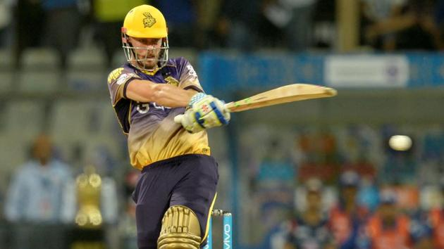 Kolkata Knight Riders opener Chris Lynn had injured his shoulder while going for a difficult catch in KKR's second match of the 2017 Indian Premier League season.(AFP)