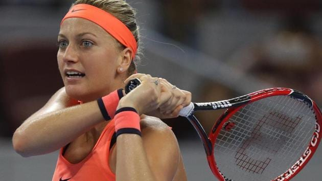 Petra Kvitova of the Czech Republic was attacked by a knife-wielding intruder at her home in the eastern Czech town of Prostejov in December.(AP)