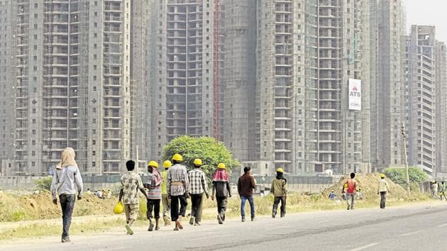 The buyers' major concern is that delayed residential projects are now being rushed to obtain an OC and CC from the town and country planning department.(Parveen Kumar/HT File Photo)