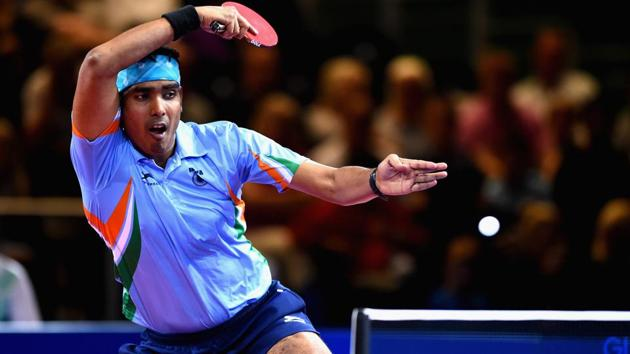India's table tennis player Achanta Sharath Kamal feels he is on the up since the Rio Olympics last year and hopes to keep improving in his bid to win singles gold at the Commonwealth Games for the second time.(Getty Images)