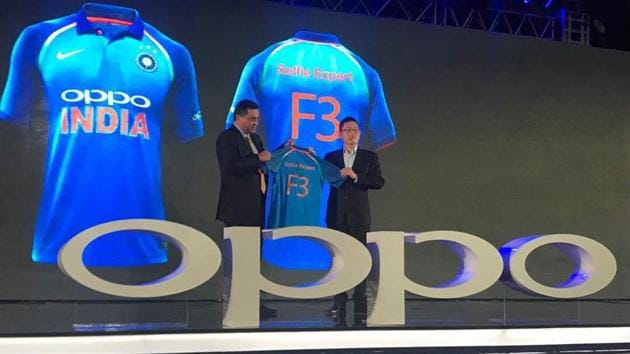 Oppo and the BCCI's five-year team sponsorship deal is worth Rs 1,079 crore.(BCCI/Twitter)