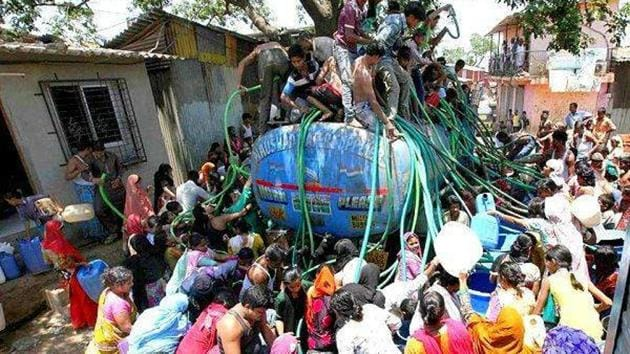 With water scarce following successive failed monsoons, tankers carrying water are racing across the state's interiors and those running the trade, commonly called the tanker mafia, are said to be making a killing.(PTI Representative Photo)