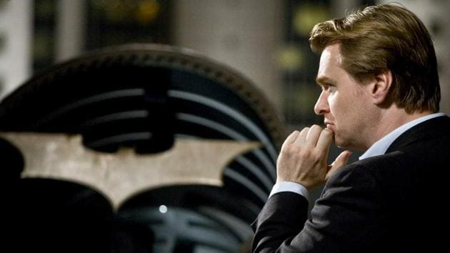 Christopher Nolan on the sets of The Dark Knight.