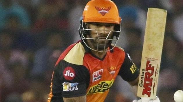 With some good performances in IPL 2017, Shikhar Dhawan is expected to feature in India's ICC Champions Trophy squad.(PTI)