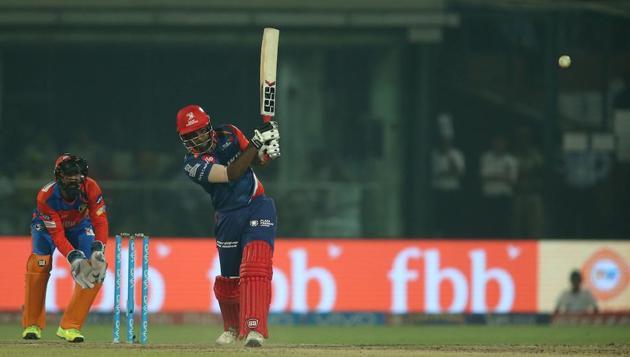Sanju Samson plays a shot during an IPL 2017 match between Delhi Daredevils and Gujarat Lions on Thursday.(BCCI)