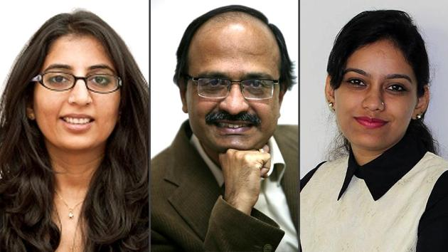 Three Indian journalists - Dinesh C Sharma (middle), Vidya Krishnan (left) and Nabeela Khan - have been selected this year for the International Health Media Fellowships awarded by the Australian high commission and DataLEADS.(Handout image/combo pic)