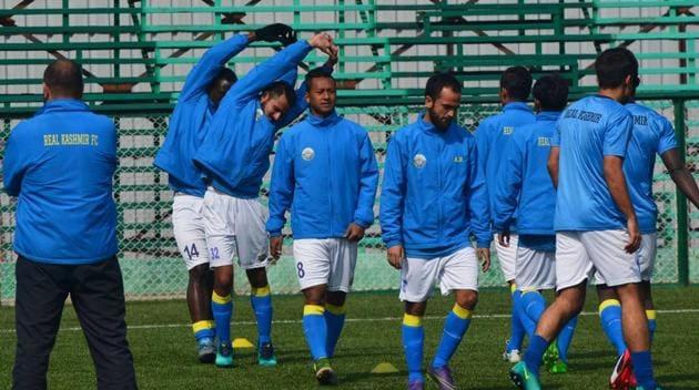 Real Kashmir FC will face Scottish club Stenhousemuir FC in a friendly match in July.(Real Kashmir FC/Facebook)