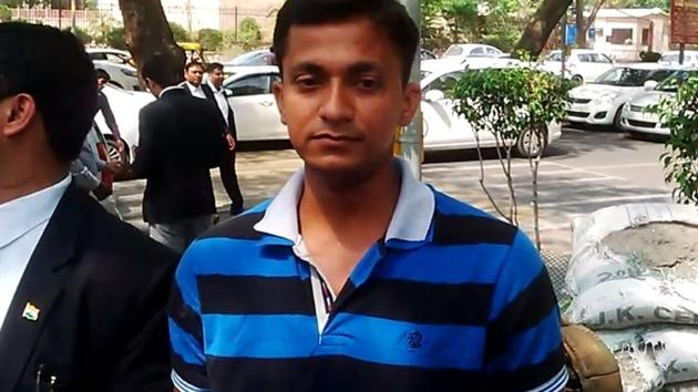 Pankaj Kumar Misra, a jawan with the CRPF's 221 battalion at Durgapur in West Bengal, said he fled from the force in fear of his life.(HT Photo)