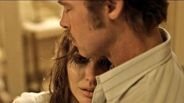 Brad Pitt and Angelina Jolie in a still from their film By the Sea.