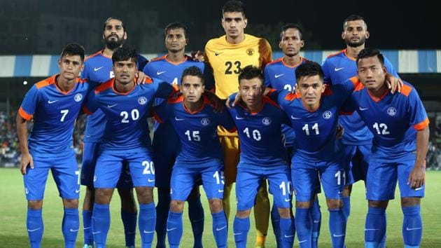 The Indian men's national team has broken into the top 100 of the FIFA world ranking for the first time in 21 years.(AIFF)