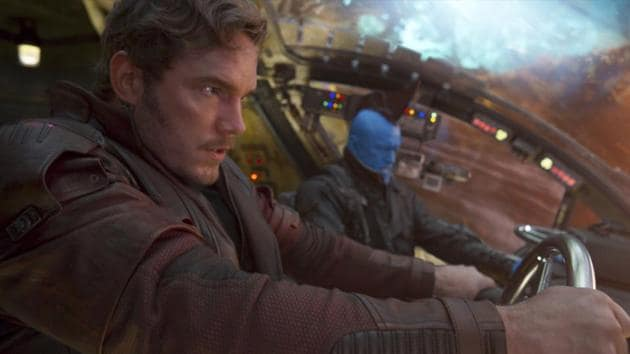 Chris Pratt (left), and Michael Rooker in a scene from Guardians Of The Galaxy Vol. 2.(AP)