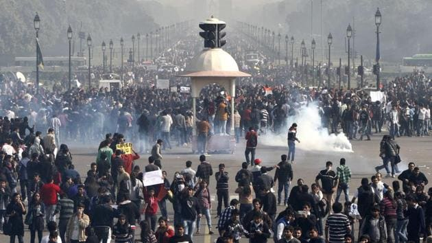 Protests in New Delhi following the gang rape of a 23-year-old woman in December, 2012.(File Photo)
