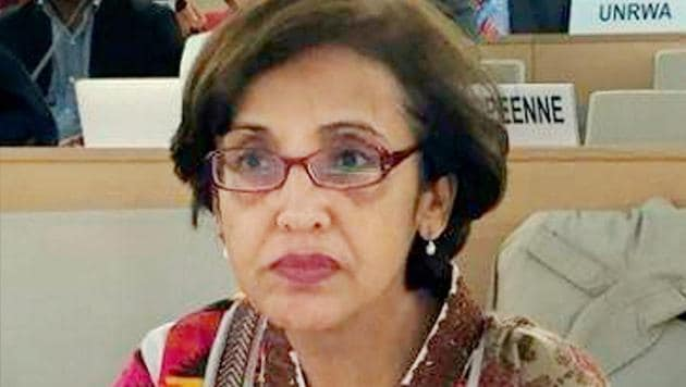 Pakistan's foreign secretary Tehmina Janjua reiterated Pakistan's commitment to dialogue with India for the resolution of all outstanding issues.(PTI)