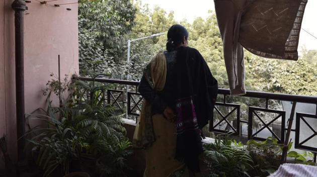 December 16 gang-rape victim's mother at her house in Delhi.(Saumya Khandelwal/HT Photo)