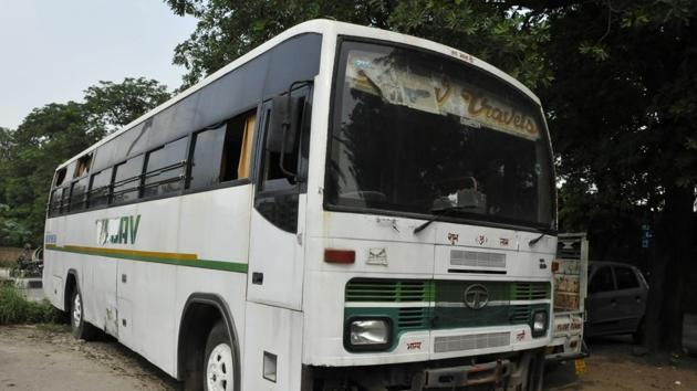 The bus in which the victim was gang raped on December 16, 2012.(Sonu Mehta/HT File)