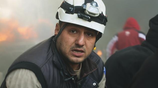 A still from the documentary Last Men In Aleppo, which features members of the White Helmets.(Hot Docs)