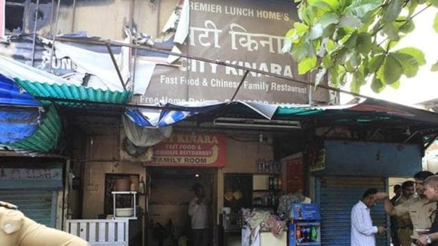 In 2015, eight college students died after a fire broke out in Kurla's Kinara restaurant.(HT File Photo)