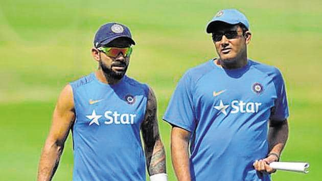 Anil Kumble, Indian cricket team coach, had reportedly approached BCCI) stating that his team is keen to participate in the ICC Champions Trophy.(AFP)