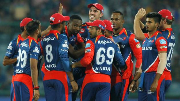 A galvanised Delhi Daredevils must beat Mumbai Indians today at Feroz Shah Kotla to keep their chances alive for an IPL 2017 playoff berth. Get live cricket score of DD vs MI here.(BCCI)