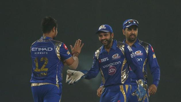 Mumbai Indians became the first team to secure qualification in the IPL 2017 play-offs after they defeated Delhi Daredevils by 146 runs. Rising Pune Supergiant have moved to second spot after their win over Sunrisers Hyderabad.(BCCI)